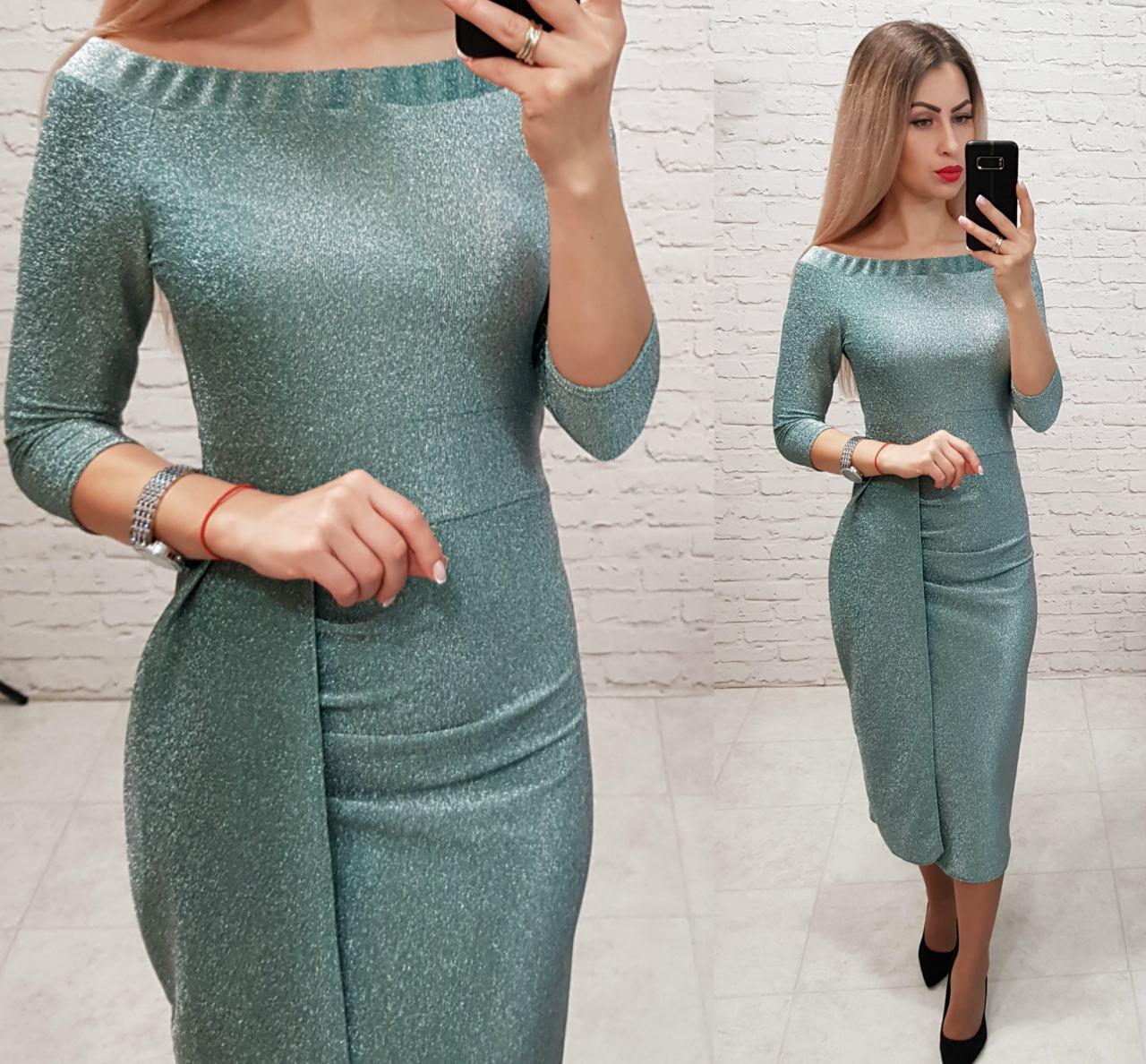 Платье нарядное, модель 824, цвет - изумруд