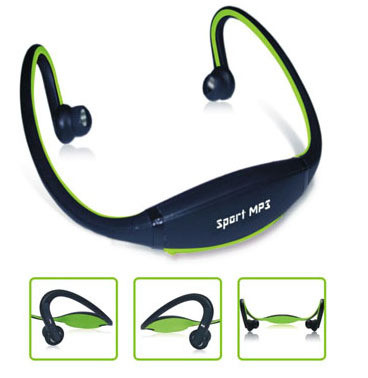 Плеер наушники Sport MP3 зеленый