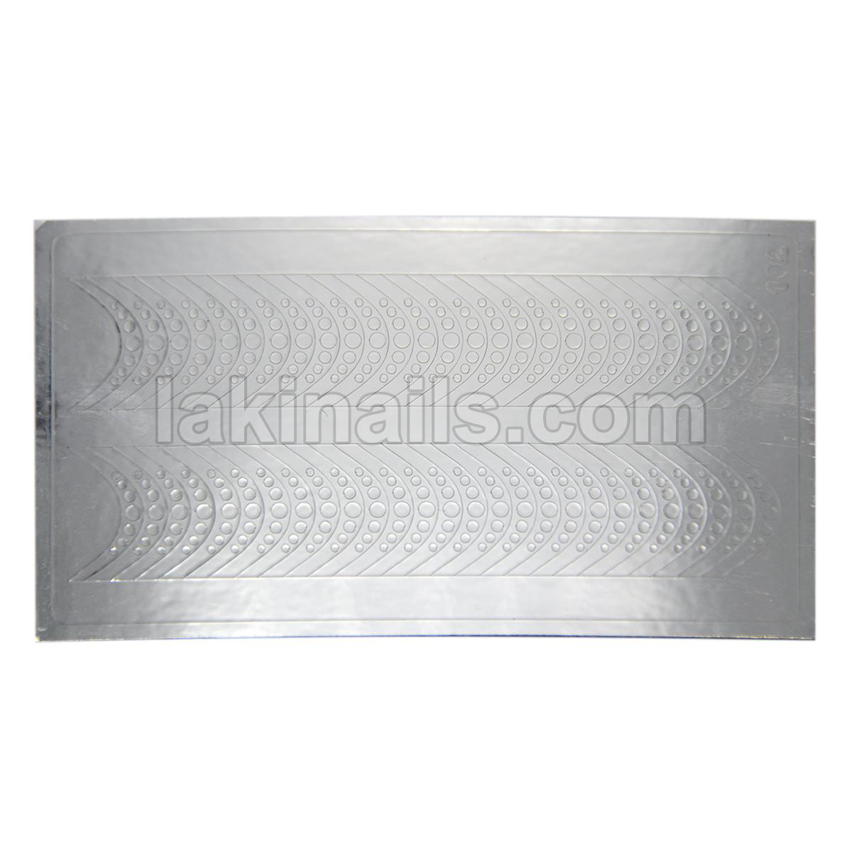 Металлизированные наклейки, серебро, 102S
