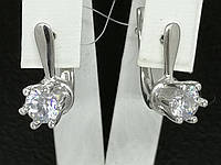 Серебряные серьги с фианитами. Артикул 90200485, фото 1