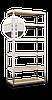 Стеллаж Эталон, 2520х1000х400 на болтовом соединении, оцинкованный, 6 полок, ДСП, 200 кг/полка