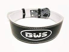 Пояс атлетический узкий BWS чёрный XL