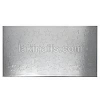 Металлизированные наклейки, серебро, 106S