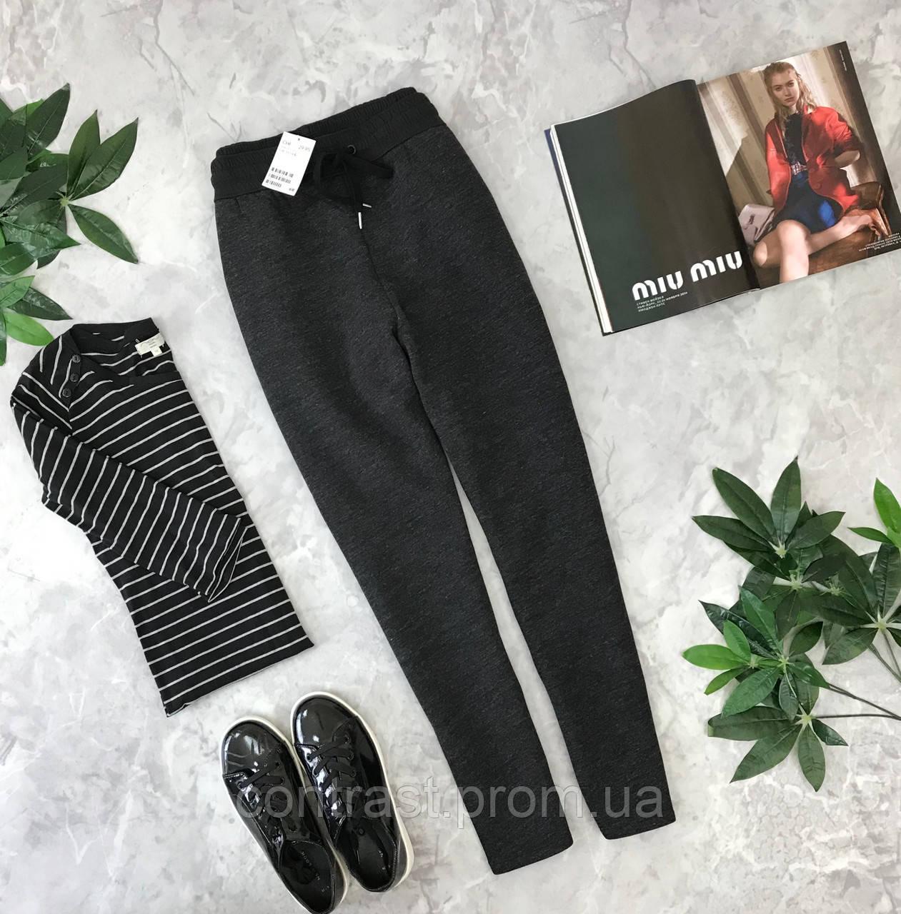 Комфортные брюки в сером цвете от H&M  PN1849147