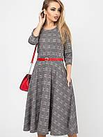 Женское клетчатое расклешенное платье(Трисс leo)