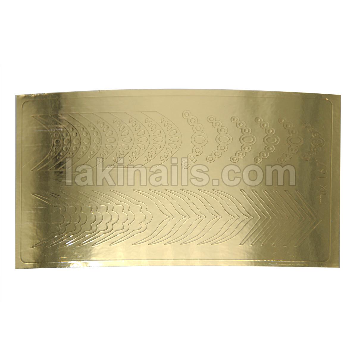 Металлизированные наклейки, золото, 167G