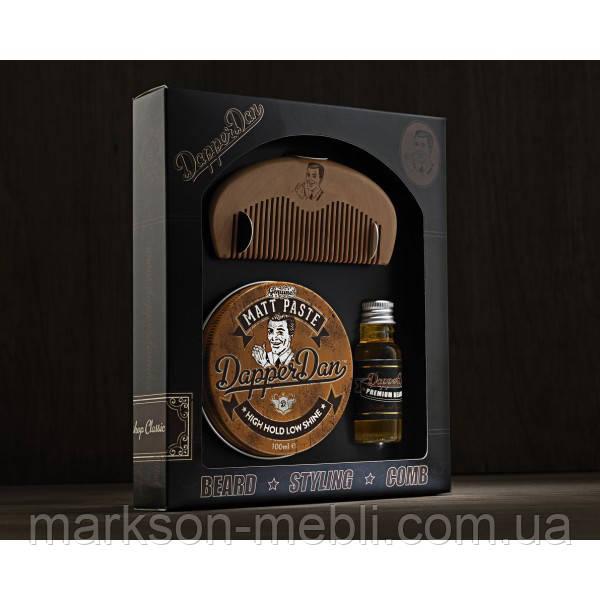 Набор Hairy Man Combo - гребень, масло д/бороды 15мл, матовая паста 100гр