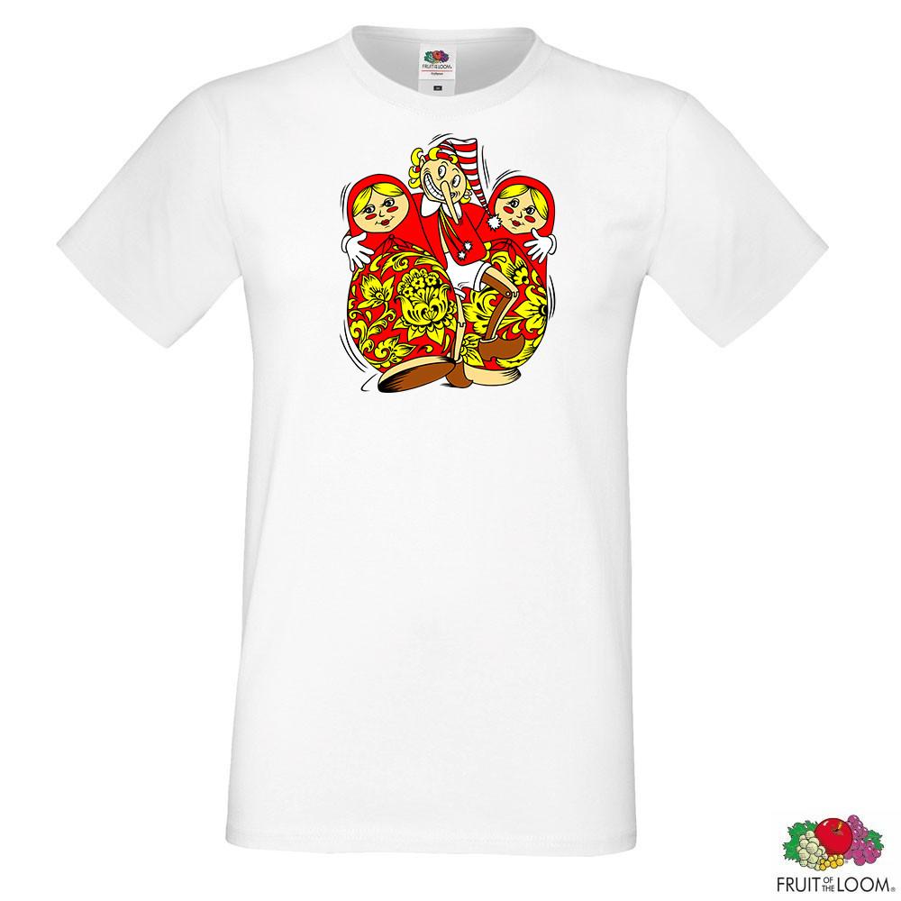 Мужская футболка  с принтом Буратино с матрешками Push IT