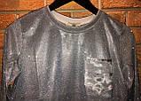 Блуза с люрексом SOGO Турция люкс Голубая, фото 3