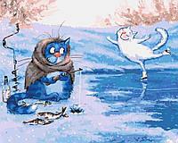 Картина по номерам - Зимняя рыбалка
