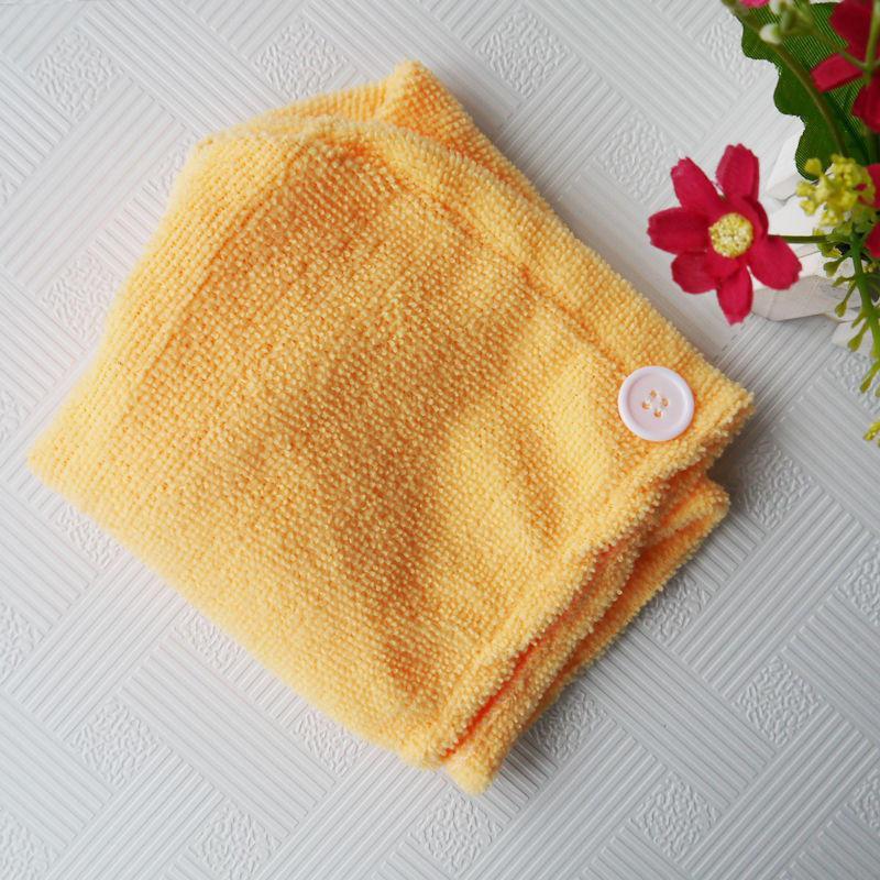 Полотенце-тюрбан для волос (желтый)