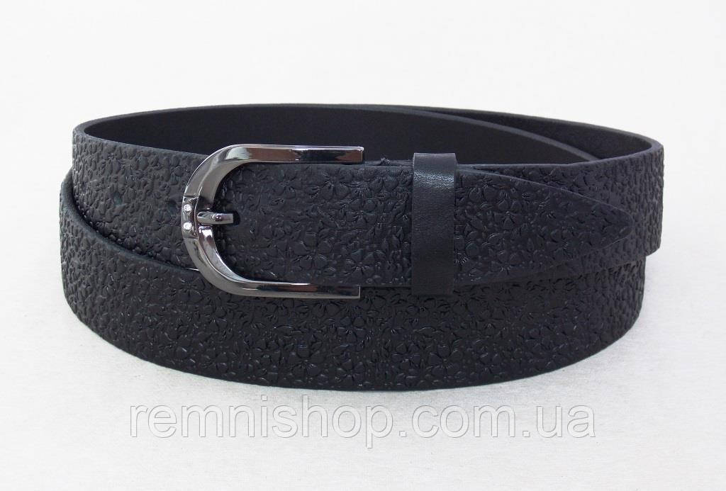 Черный женский кожаный универсальный ремень JK