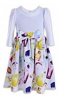 Платье для девочки с бантом 128 размер