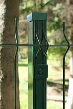Столб для крепления сетки ограждения Зеленый 60*40 Н-2,0м
