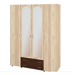 Шкаф в спальню с зеркалами Ш-4 Милана