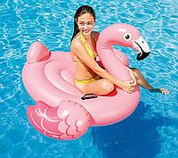 Intex надувной матрас Розовый фламинго для детей