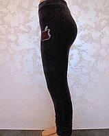 Турецкие велюровые лосины для девочек 86-116 роста Баклажан