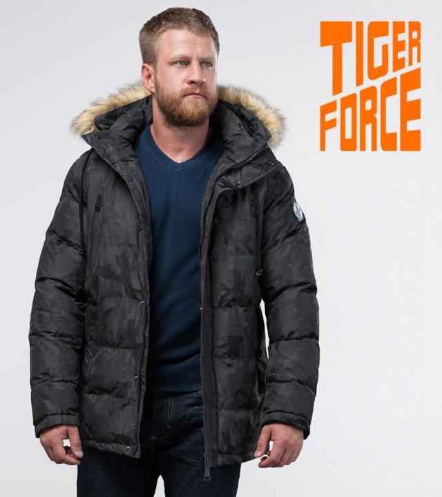 7a6e5e9ae446 Не промокаемая мужская зимняя куртка «Tiger Force» (Тайгер Форс) камуфляжная