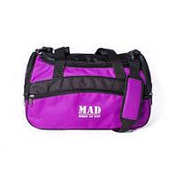 Женская спортивная сумка каркасной формы TWIST фиолетовая от спортивного бренда MAD   born to win™