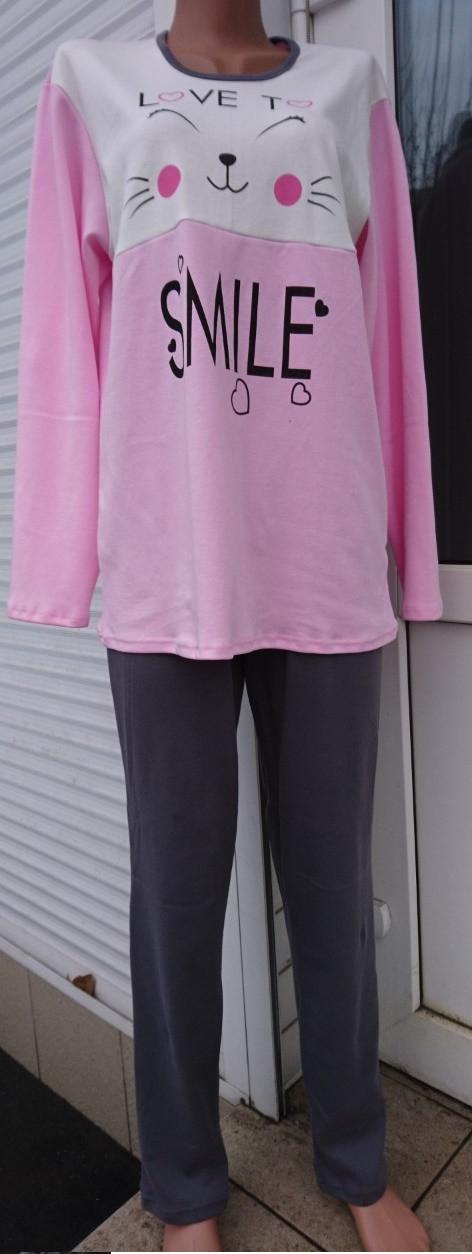 Пижама интерлок с красивым накатом Smile 38-56 р