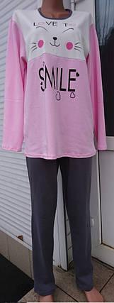 Пижама интерлок с красивым накатом Smile 38-56 р, фото 2