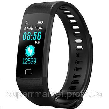 Фитнес браслет-часы Smart Bracelet Y5 с измерением давления и пульса, черный, фото 2