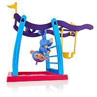 Інтерактивна мавпочка з дитячим майданчиком WowWee Fingerlings Monkey Bar Playground, фото 1