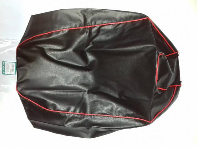 Чехол сиденья HONDA DIO AF-34/35 черный, красный кант JOHN DOE, фото 2