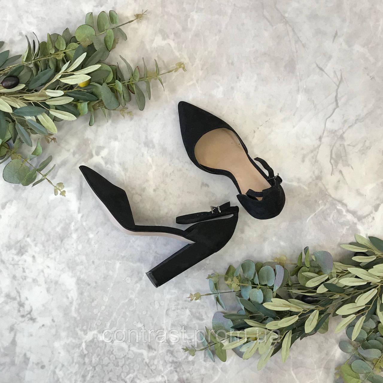 Стильные туфли с замши  SH1849083