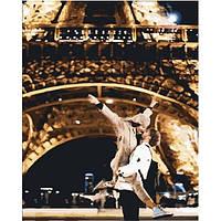 """Премиум Картина по номерам """"Ночная прогулка в Париже"""", отличный подарок, 40 х 50 см, С Коробкой"""