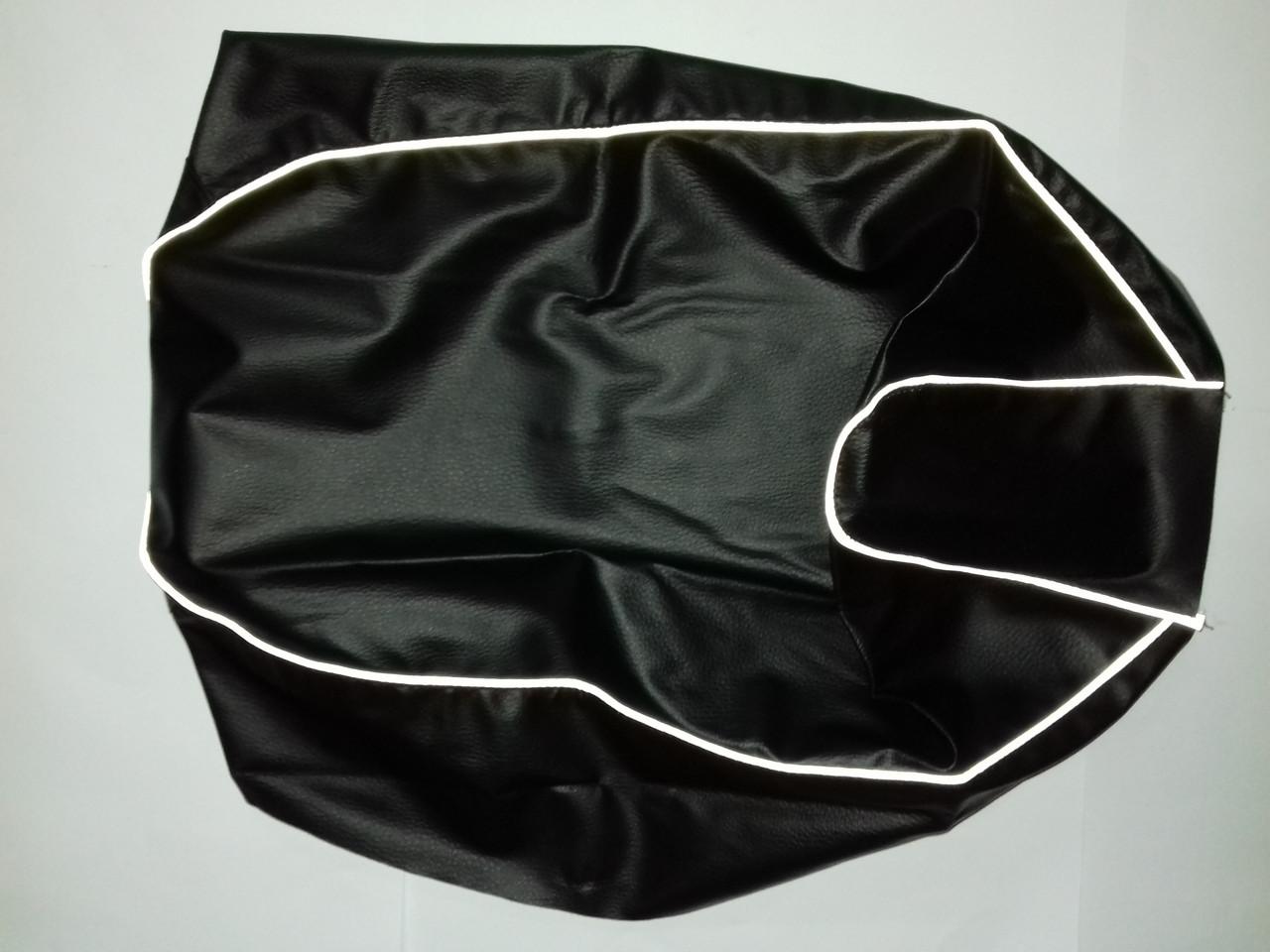 Чехол сиденья HONDA DIO AF-34/35 черный, светоотражающий кант JOHN DOE