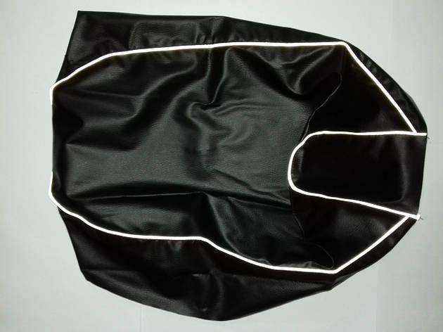 Чехол сиденья HONDA DIO AF-34/35 черный, светоотражающий кант JOHN DOE, фото 2