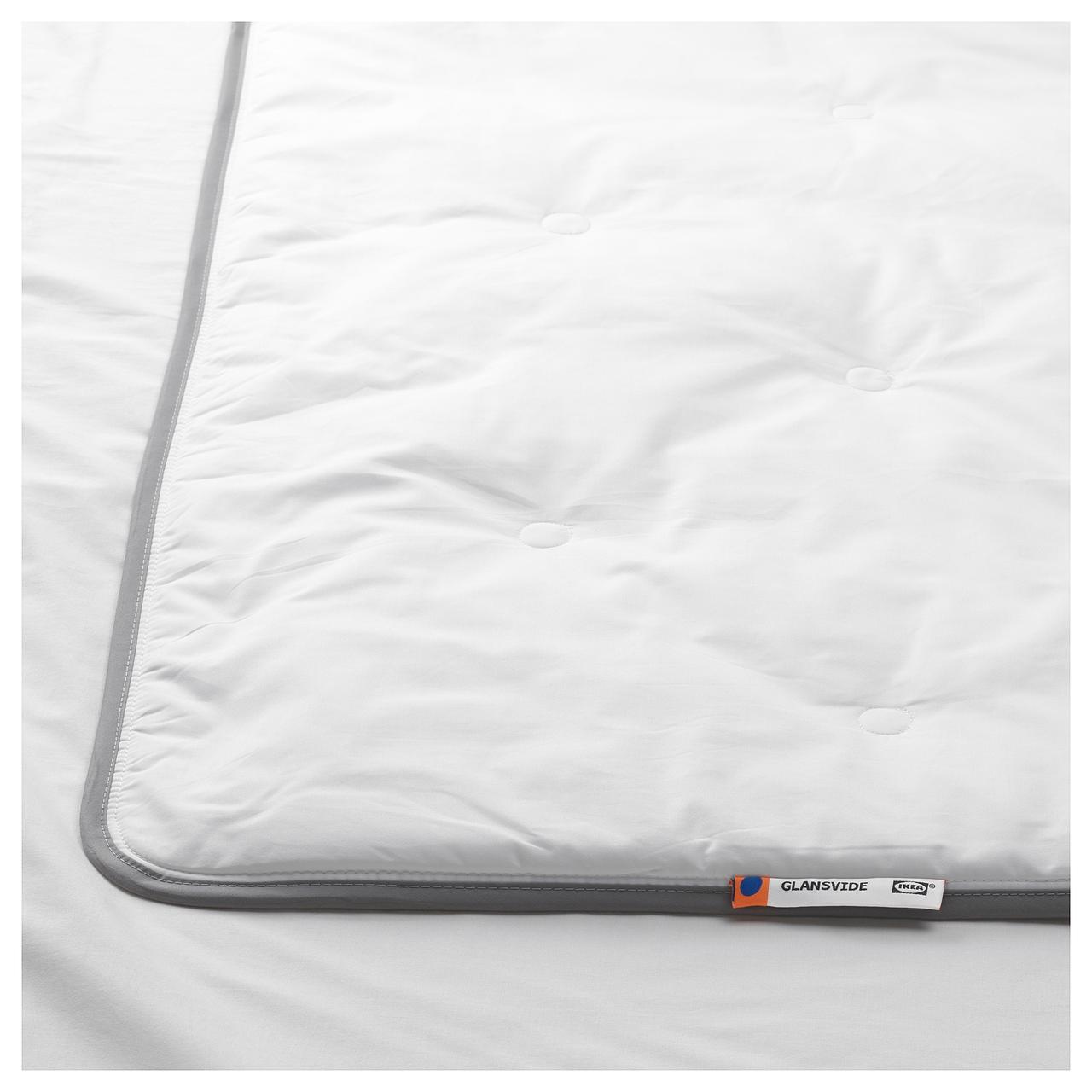 ГЛАНСВИДЕ Одеяло прохладное, белое, 200*200 см., 302.714.53