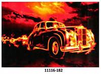 Кольоровий килим з різним малюнком Машина,мотоцикл, фото 1