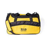 Яркая спортивная сумка каркасной формы TWIST желтая от спортивного бренда MAD   born to win™