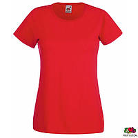 Футболка 'Lady-Fit Valueweight-T' L (Fruit of the Loom)(Красный)