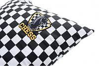 Подушка декоративная шахматы, фото 1