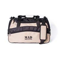 Стильная спортивная сумка каркасной формы TWIST бежевая от спортивного бренда MAD | born to win™