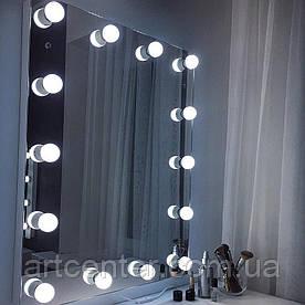 Гримерное зеркало, зеркало с лампочками, зеркало без рамы