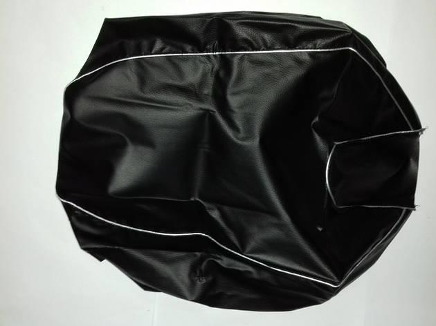 Чехол сиденья HONDA DIO AF-34/35 черный, серебристый кант JOHN DOE, фото 2