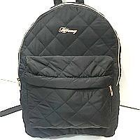 Рюкзаки женские стёганные (черный)30*36см