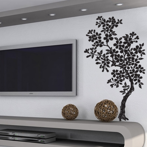 Интерьерная наклейка на обои Магнолия (виниловая, самоклеящаяся, оракал, декоративные наклейки деревья стена)