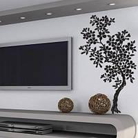 Интерьерная наклейка на обои Магнолия (виниловая, самоклеящаяся, оракал, декоративные наклейки деревья стена), фото 1