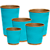 Гофростакан Крафт (БЛАКИТНИЙ) 180мл (30шт/35рук/1050шт), КР71, фото 3