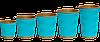 Гофростакан Крафт (БЛАКИТНИЙ) 180мл (30шт/35рук/1050шт), КР71, фото 2