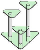 Скляна підставка під вазони - 4 Антонік