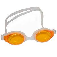 Очки для плавания подростковые J8220-1. Цвет желтый.