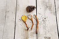 Ложка с деревянной ручкой 19 см