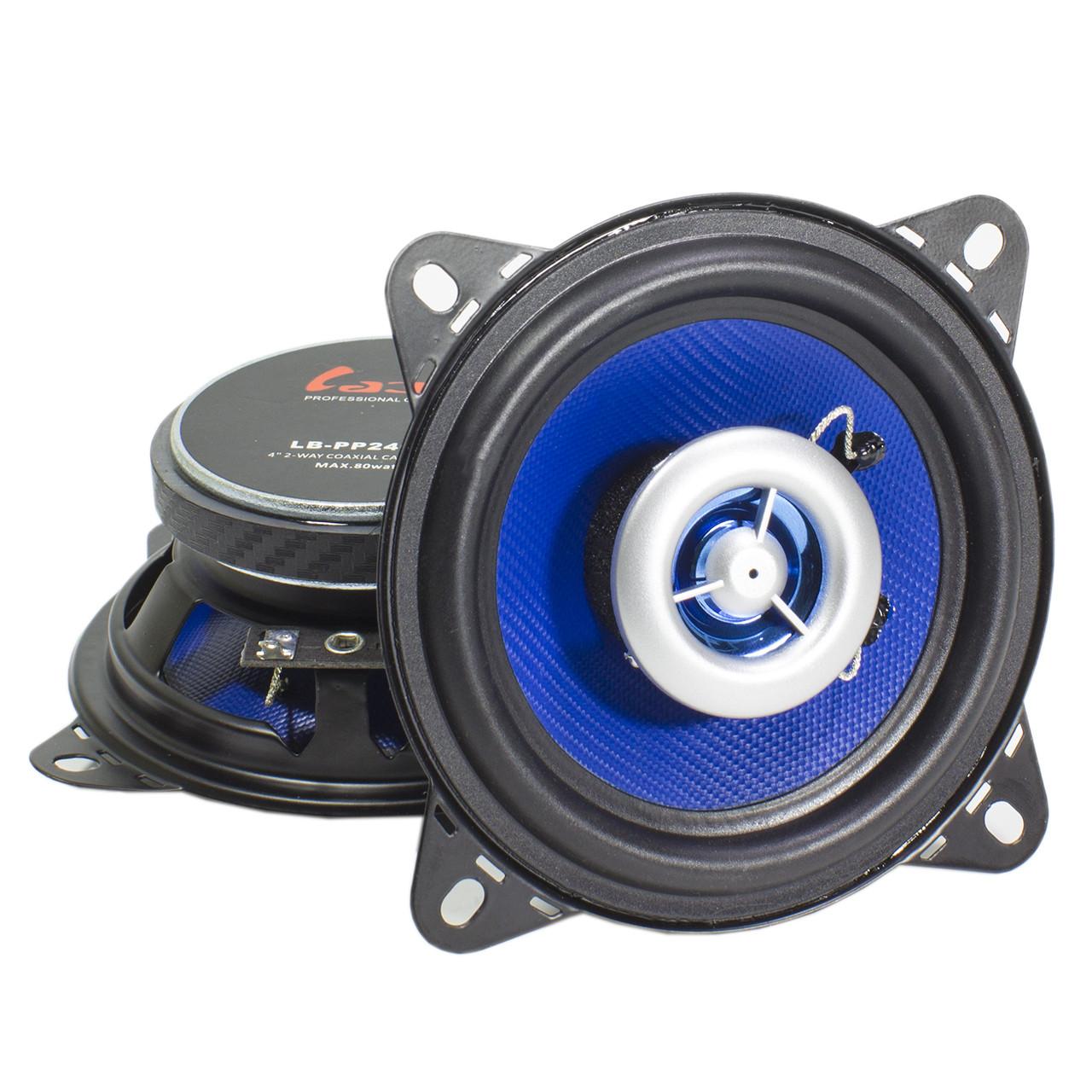 """★Автоакустика 4"""" Labo LB-PP2402T (10.2 см) мощность 80 Вт музыкальная с мощными бассами"""