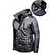 Мужская зимняя куртка серого цвета с капюшоном 1396Z, фото 2